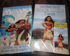Kit colorir Moana