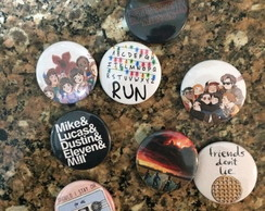 Kit 8 Bottons / Broche Stranger Things