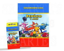 Kit Colorir - Super Wings