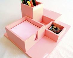 ... Organizador de mesa 4 em 1 cor rosa personalizado e97e639b6ade7