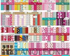 MEGA KIT 520 Kits Papel Scrapbook Digital + Brinde