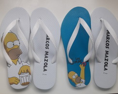 Chinelo personalizado Os Simpsons