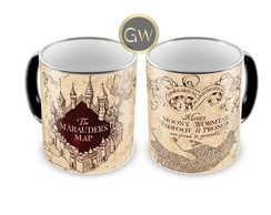 Caneca Mágica Harry Potter Mapa do Maroto.