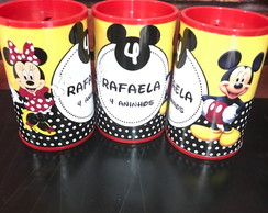 Cofrinho tema Minnie e mickey