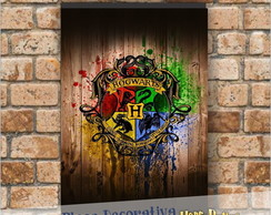 Placa decorativa As casas de Hogwarts