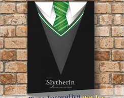 Placa decorativa As casas de Hogwarts - Sonserina