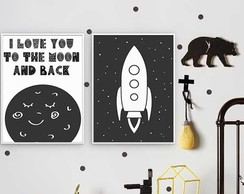 Poster Infantil Duplo To The Moon
