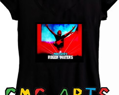 camiseta baby look roger waters us + them pink floyd