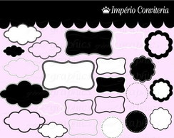 Kit Digital Scrapbook Frames 66
