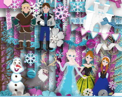 Kit Digital Scrapbook Frozen 2