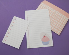 Kit cards e envelope-Cupcake rosa (ARQUIVO DIGITAL)