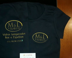 Camiseta baby look uniformes para empresas bordados