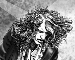 Poster Roqueiros A3 - Joe Perry - Aerosmith