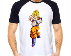 Camiseta Raglan Dragon Ball Z Son Goku Ssj2 Dbz 1269