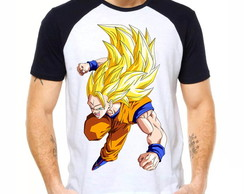 Camiseta Raglan Dragon Ball Z Son Goku Ssj3 Dbz 1275