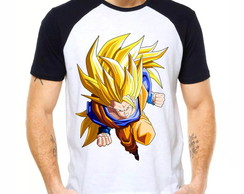 Camiseta Raglan Dragon Ball Z Son Goku Ssj3 Dbz 1277