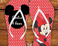 CHINELO PERSONALIZADO - MINNIE E MICKEY
