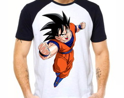 Camiseta Raglan Dragon Ball Son Goku Kakarotto Normal Z 1301
