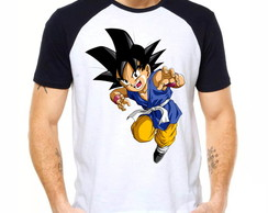 Camiseta Raglan Dragon Ball Gt Goku Pequeno Saiyajin 1303