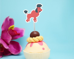 Toppers para doces - cachorro poodle