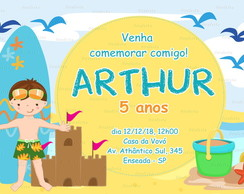 arte convite digital whatsapp surf party