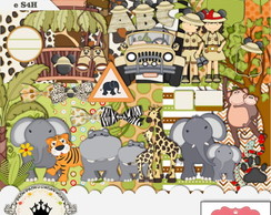 Kit Digital Scrapbook Mickey Safari 16