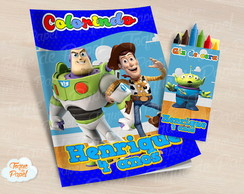 Kit colorir com giz de cera Toy Story