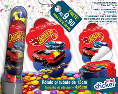 Rótulo p/ Tubete - Hot Wheels
