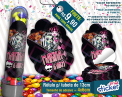 Rótulo p/ Tubete - Monster High