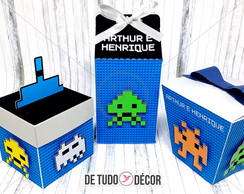 Kit Space Invaders - 36 itens