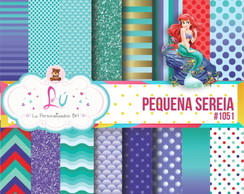 Papel digital Pequena sereia