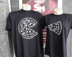 Kit 2 Camisetas Casal Namorados- pizza
