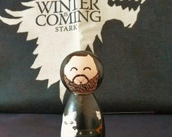 Boneca de Madeira Jon Snow Game of Thrones