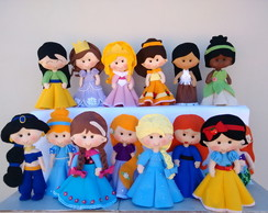 Kit Princesas Feltro - 14 Personagens