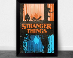 Quadro Poster com Moldura Stranger Things 001