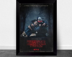 Quadro Poster com Moldura Stranger Things 002