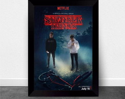 Quadro Poster com Moldura Stranger Things 004