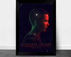 Quadro Poster com Moldura Stranger Things 005