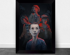 Quadro Poster com Moldura Stranger Things 006