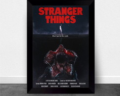 Quadro Poster com Moldura Stranger Things 008