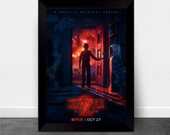 Quadro Poster com Moldura Stranger Things 009
