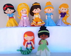 Kit Princesas Feltro - 7 Personagens