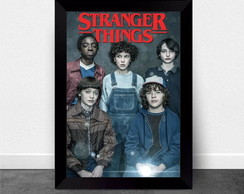 Quadro Poster com Moldura Stranger Things 011
