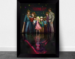 Quadro Poster com Moldura Stranger Things 012