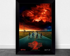 Quadro Poster com Moldura Stranger Things 013