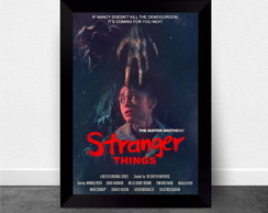 Quadro Poster com Moldura Stranger Things 014