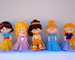 Kit Princesas Feltro - 5 Personagens