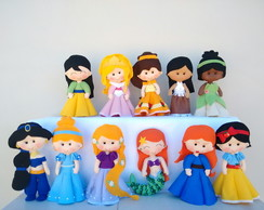 Kit Princesas Feltro - 11 Personagens