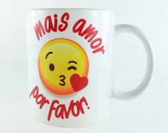 Caneca Porcelana Mais amor por favor 325 ml
