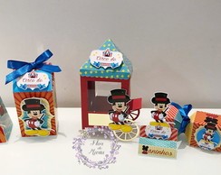 Kit Personalizados Scrap Circo do Mickey
